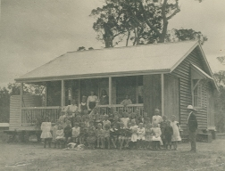 Cooroy State School 1909 with Principal - R.T. Bolton